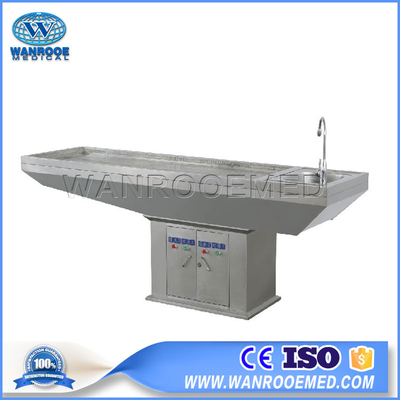 Autopsy Table, Funeral Autopsy Table, Hospital Dissection Table, Embalming Table, Stainless Steel Embalming Table