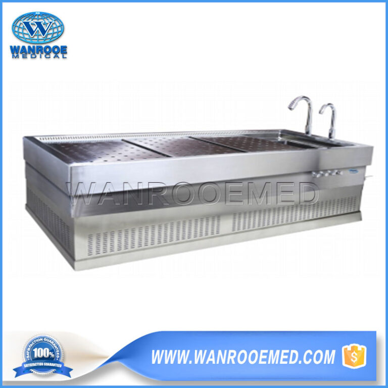 Funeral Dissection Table, Stainless Steel Dissection Table, Double Exhaust Autopsy Table, Multi - functional Autopsy Table, Forensic Autopsy Table