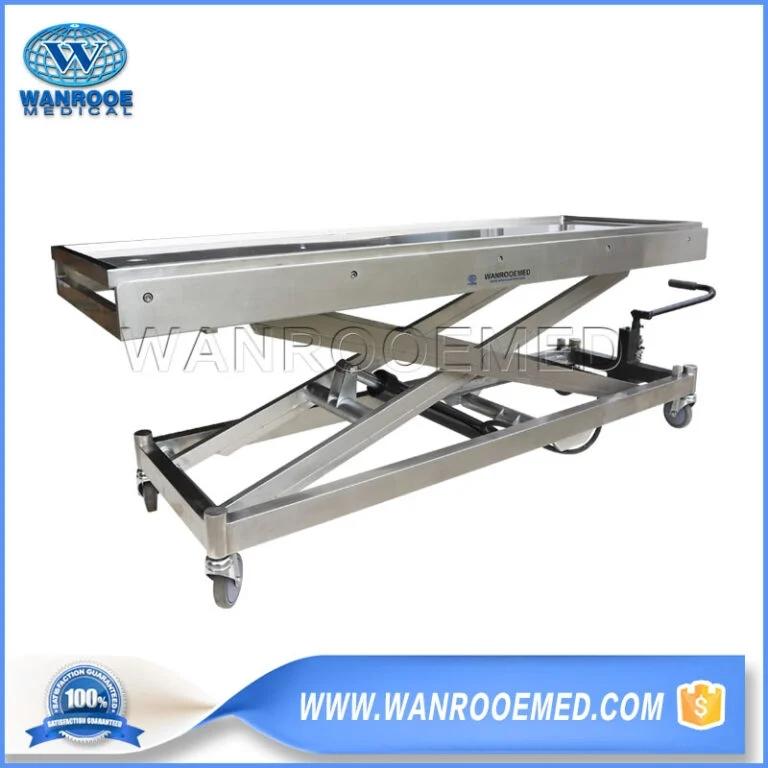 Hydraulic Body Lift, Hydraulic Lifting Trolley, Funeral Body Trolley Lift, Mortuary Body Lifter, Mortuary Trolley Lifter