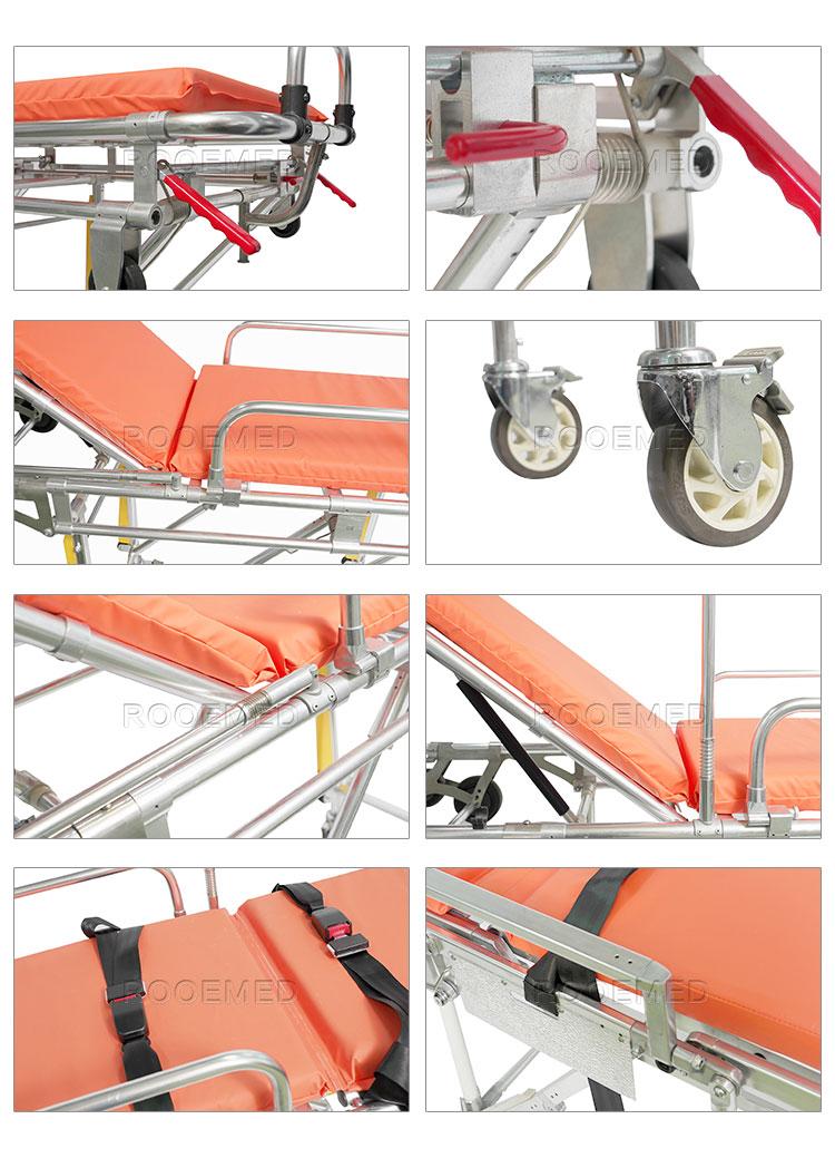 Ambulance Stretcher, Transport Stretcher, Medical Stretcher, Hospital Stretcher, Patient Ambulance Stretcher, Aluminum Alloy Stretcher