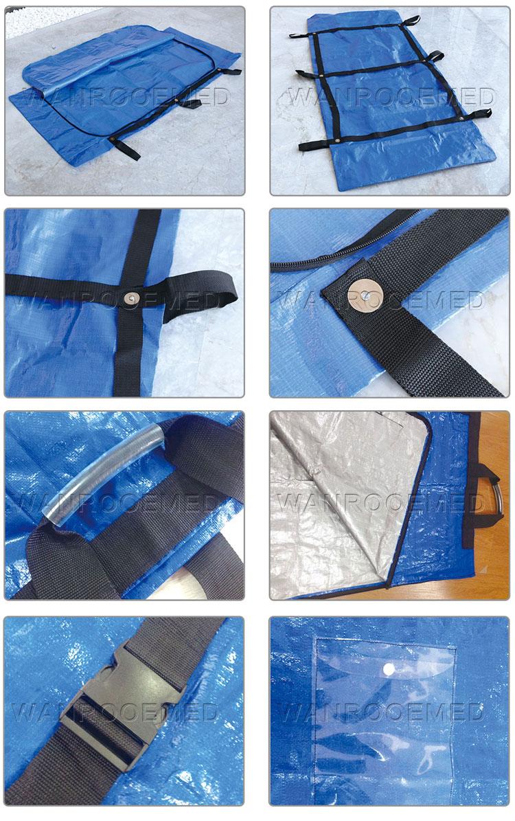 medical body bag, morgue bag, woven body bag, bule body bag, corpse body bag