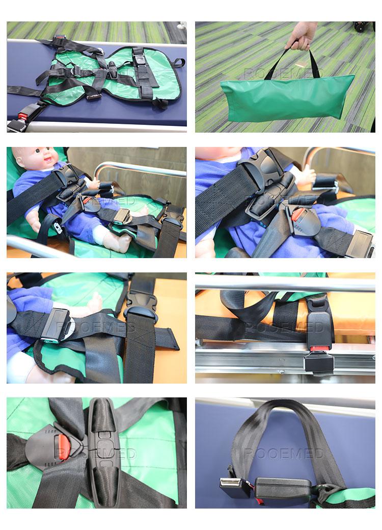 5 point harness system,pediatric immobilization,ambulance transport,pediatric immobilization device