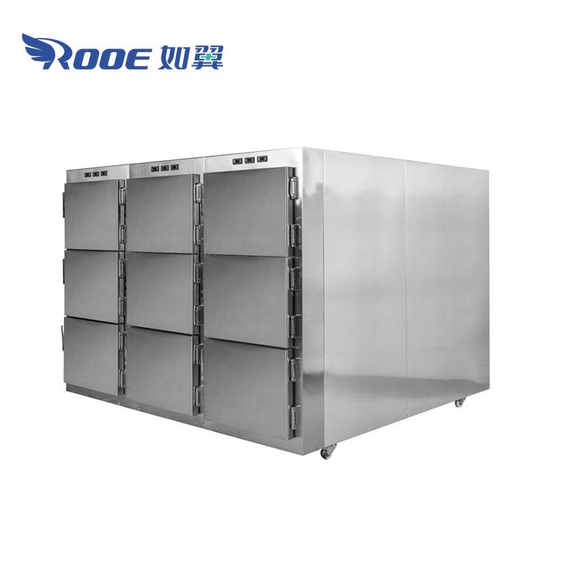 morgue body cooler,mortuary body fridges,hospital morgue cooler,corpse freezer,police morgue